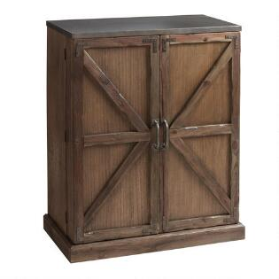 Wood Farmhouse Barn Door Bar