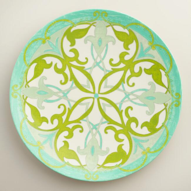 Medium Round Coastal Melamine Serving Platter