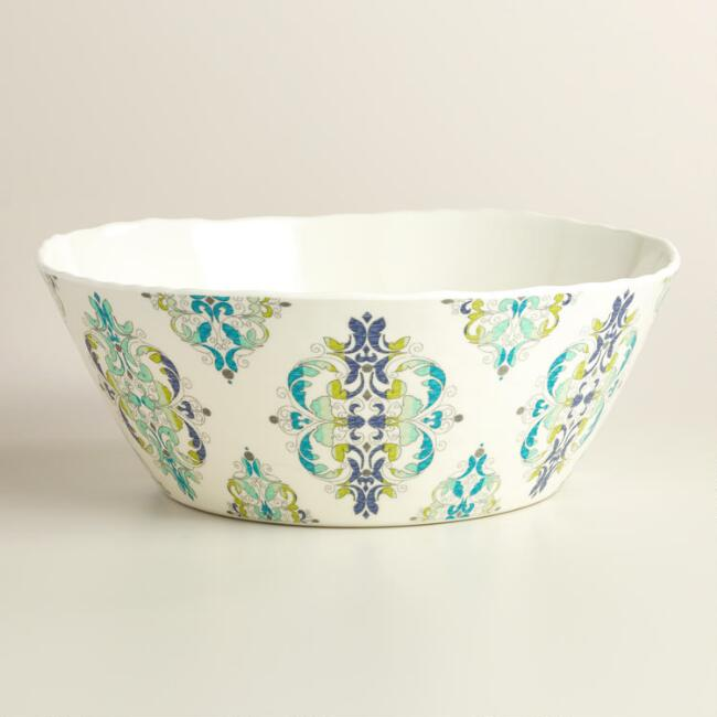 Coastal Melamine Serving Bowl