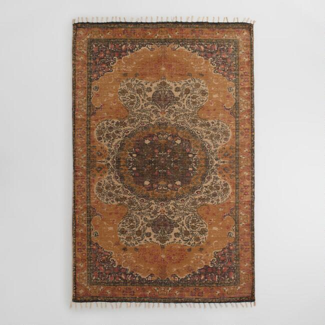 5x8 Yellow Jute Soha Area Rug