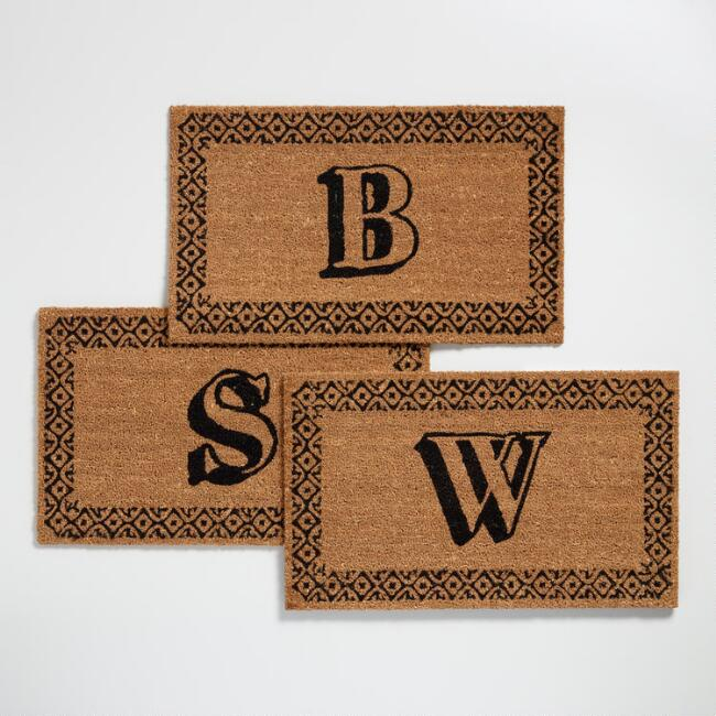 Monogram Coir Doormat Collection