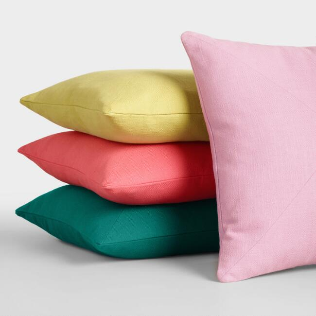 Herringbone Cotton Throw Pillow Collection