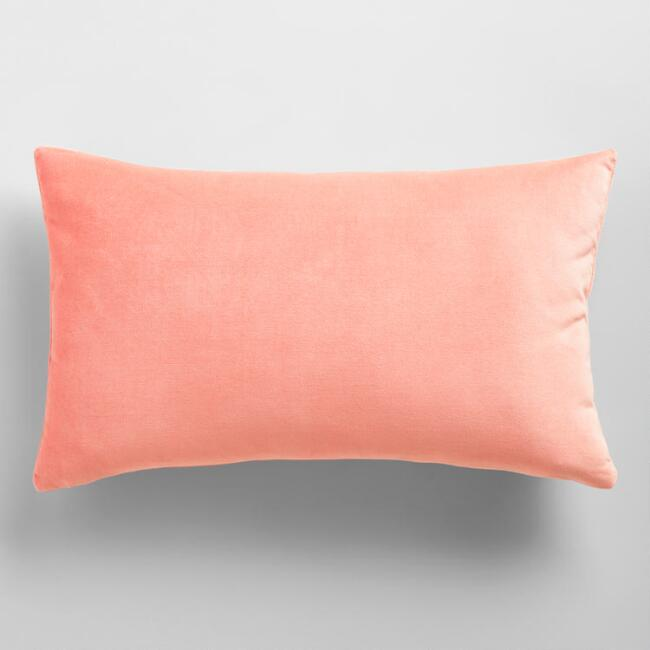 Dusty Pink Velvet Lumbar Pillow