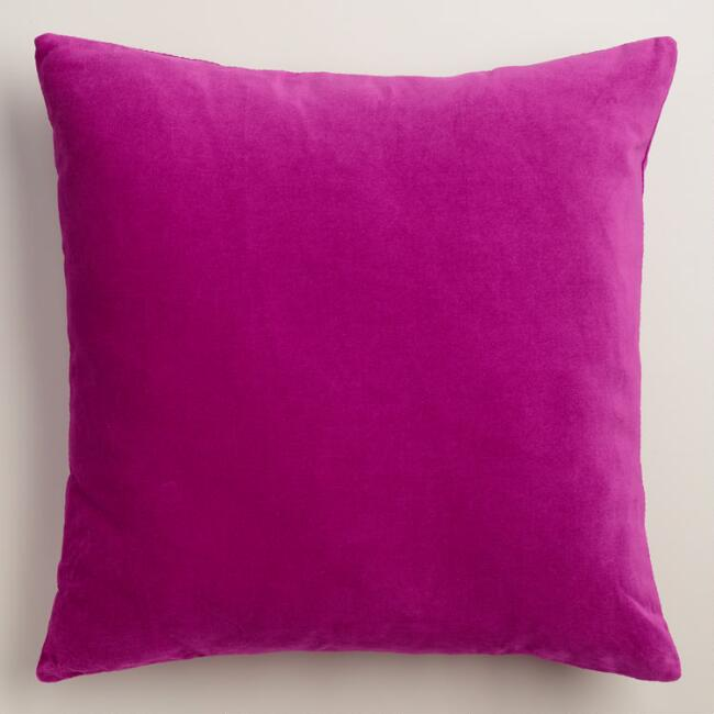 Wild Aster Velvet Throw Pillow