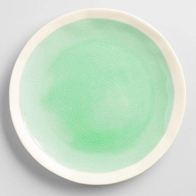 Aqua Henley Salad Plates Set of 4
