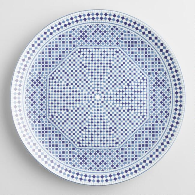 Blue Fez Tile Dinner Plates Set of 4