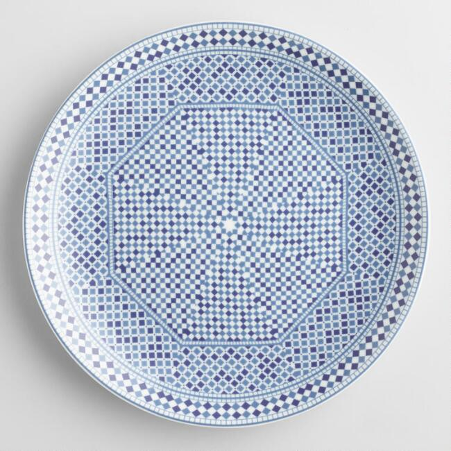 Blue Fez Tile Salad Plates Set of 4