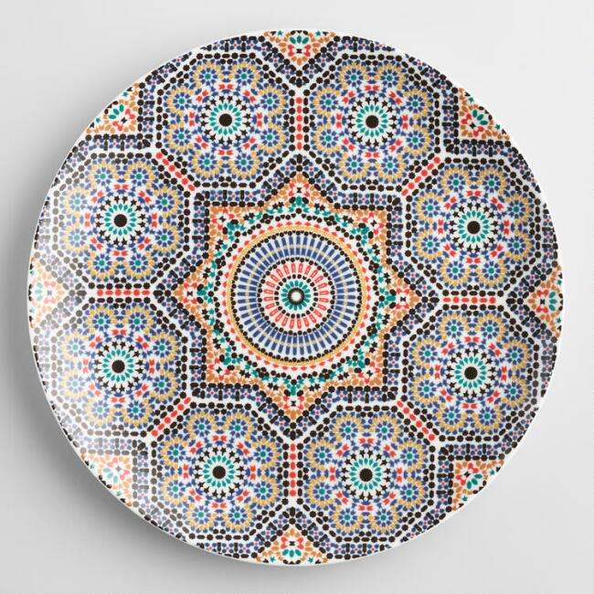 Fez Moroccan Tile Dinner Plates Set Of 4 Metallic By