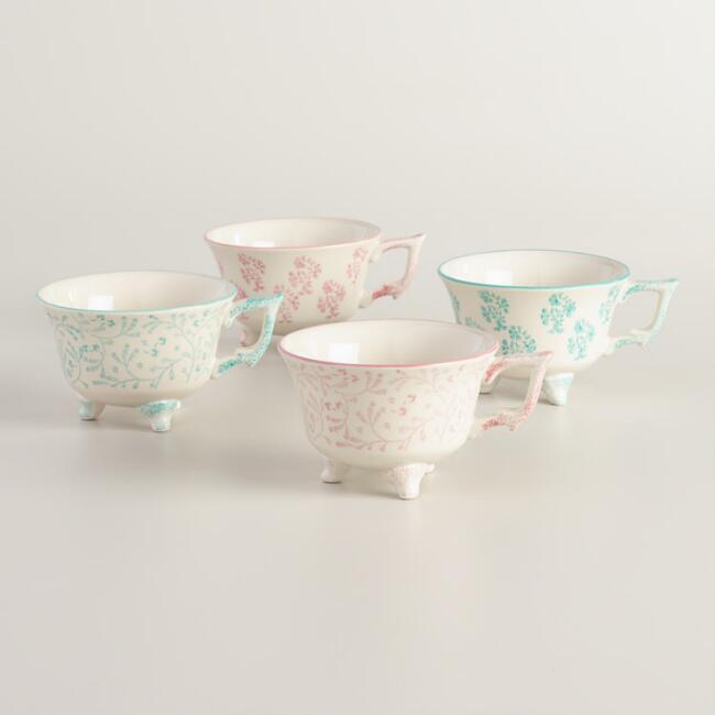 Floral Juliette Mugs Set of 4