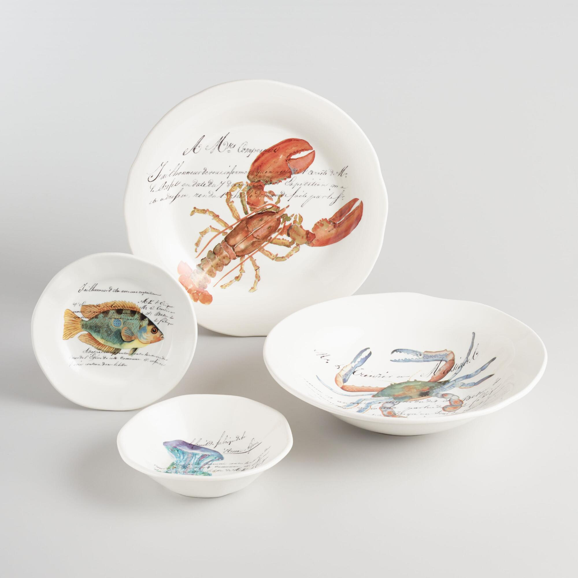 Italian Sealife Dinnerware Collection by World Market