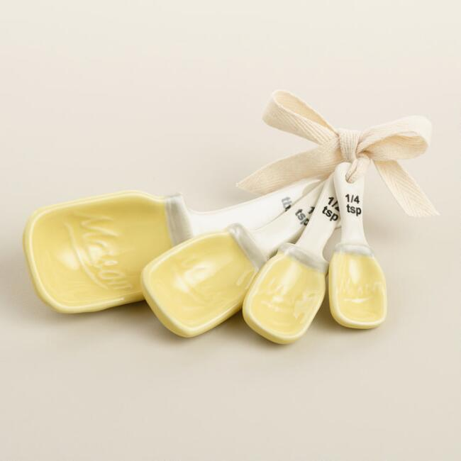 Yellow Mason Jar Measuring Spoons