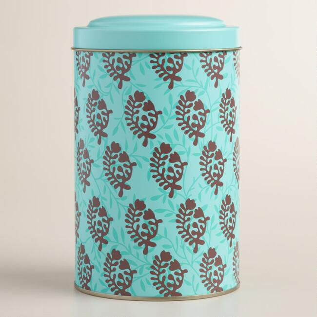 Large Bhuti Print Tea Tin
