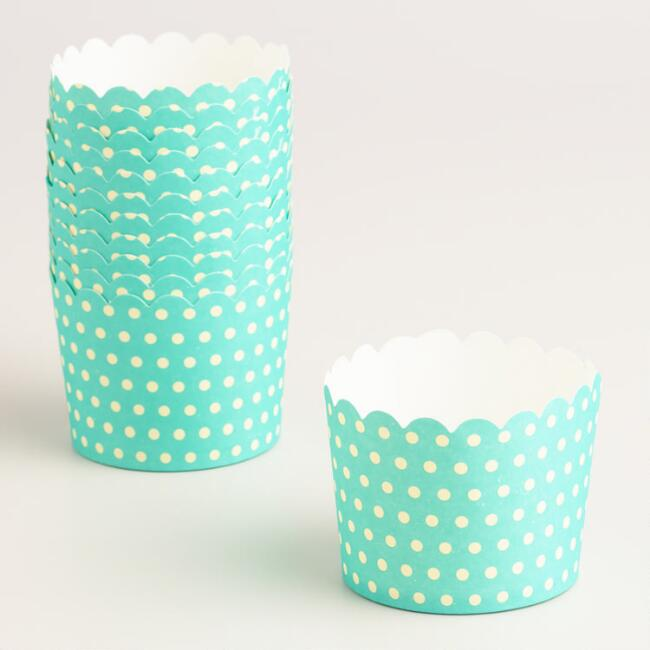 Spring Dots Freestanding Cupcake Liners 12 Count