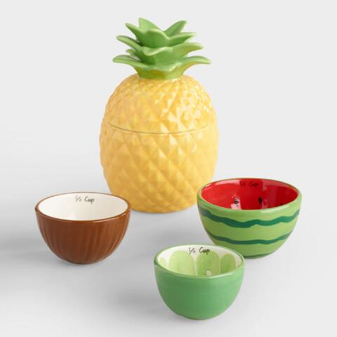 tropical fruit ceramic measuring cups world market