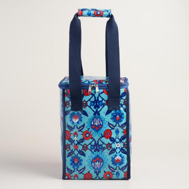 Oilcloth Insulated Wine and Beer Cooler Bag