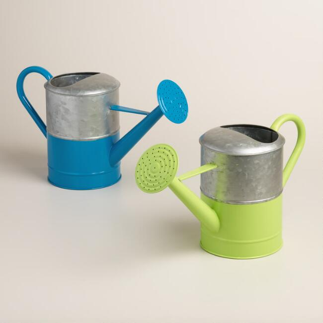 Metal Watering Cans Set of 2