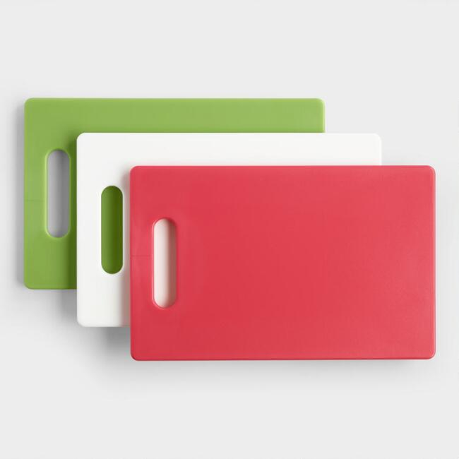 Small Slip Resistant Cutting Boards Set of 3