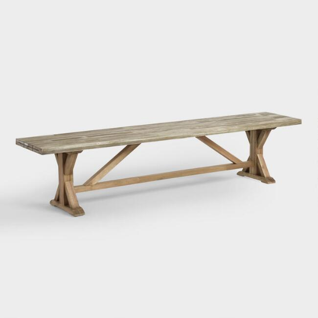 Two Tone Wood San Remo Outdoor Dining Bench