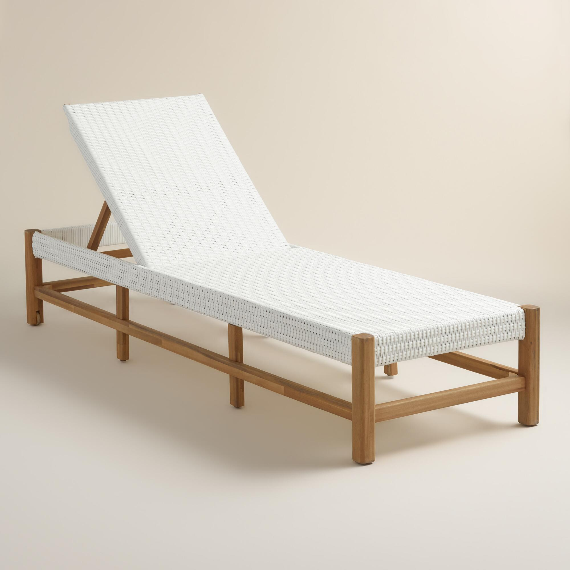 . Wood Sirmione Pool Lounger   World Market