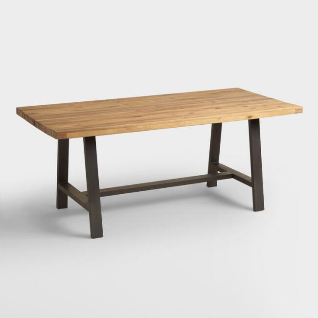 Wood and Metal Coronado A Frame Dining Table | World Market