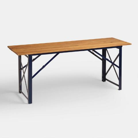 Peacoat Blue Beer Garden Outdoor Dining Table Previous V7 V1