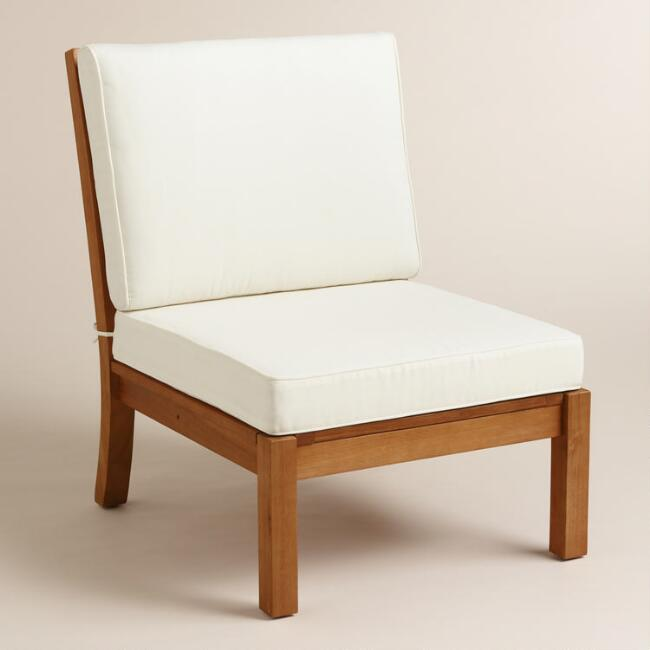 Wood Cayman Armless Sectional Chair