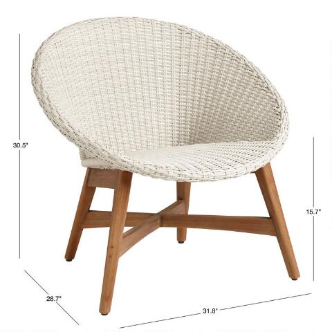 Round All Weather Wicker Vernazza Outdoor Chairs Set Of 2