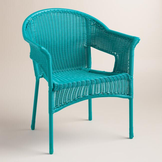capri blue all weather wicker tub chair world market