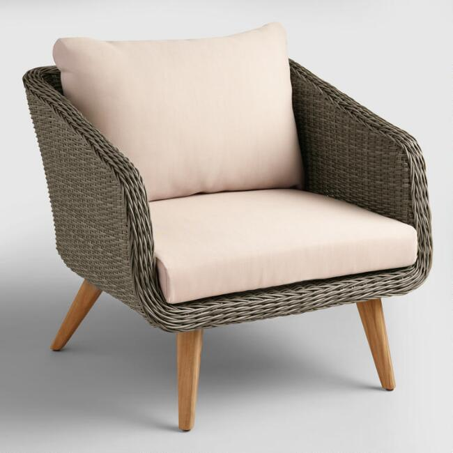 Gray All Weather Wicker Minorca Chair