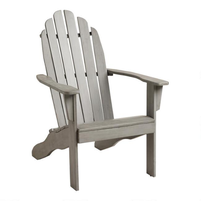 Gray Wood Adirondack Outdoor Chair - Gray Wood Adirondack Outdoor Chair World Market
