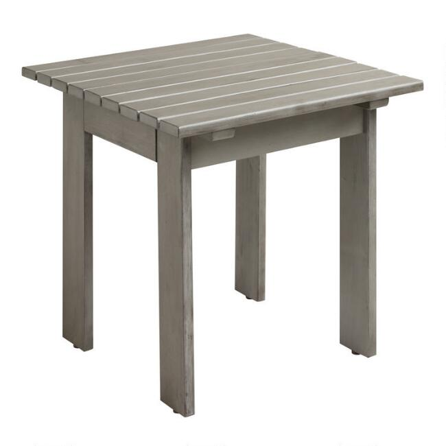 Gray Wood Adirondack Outdoor Side Table - Gray Wood Adirondack Outdoor Side Table World Market