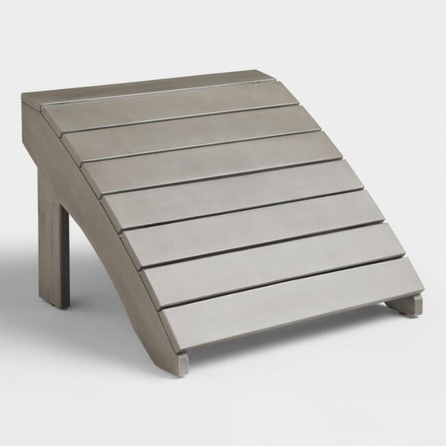 Gray Wood Adirondack Outdoor Footstool