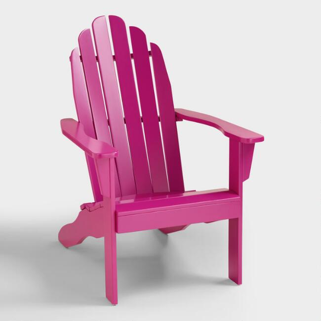 Fuchsia Red Adirondack Chair