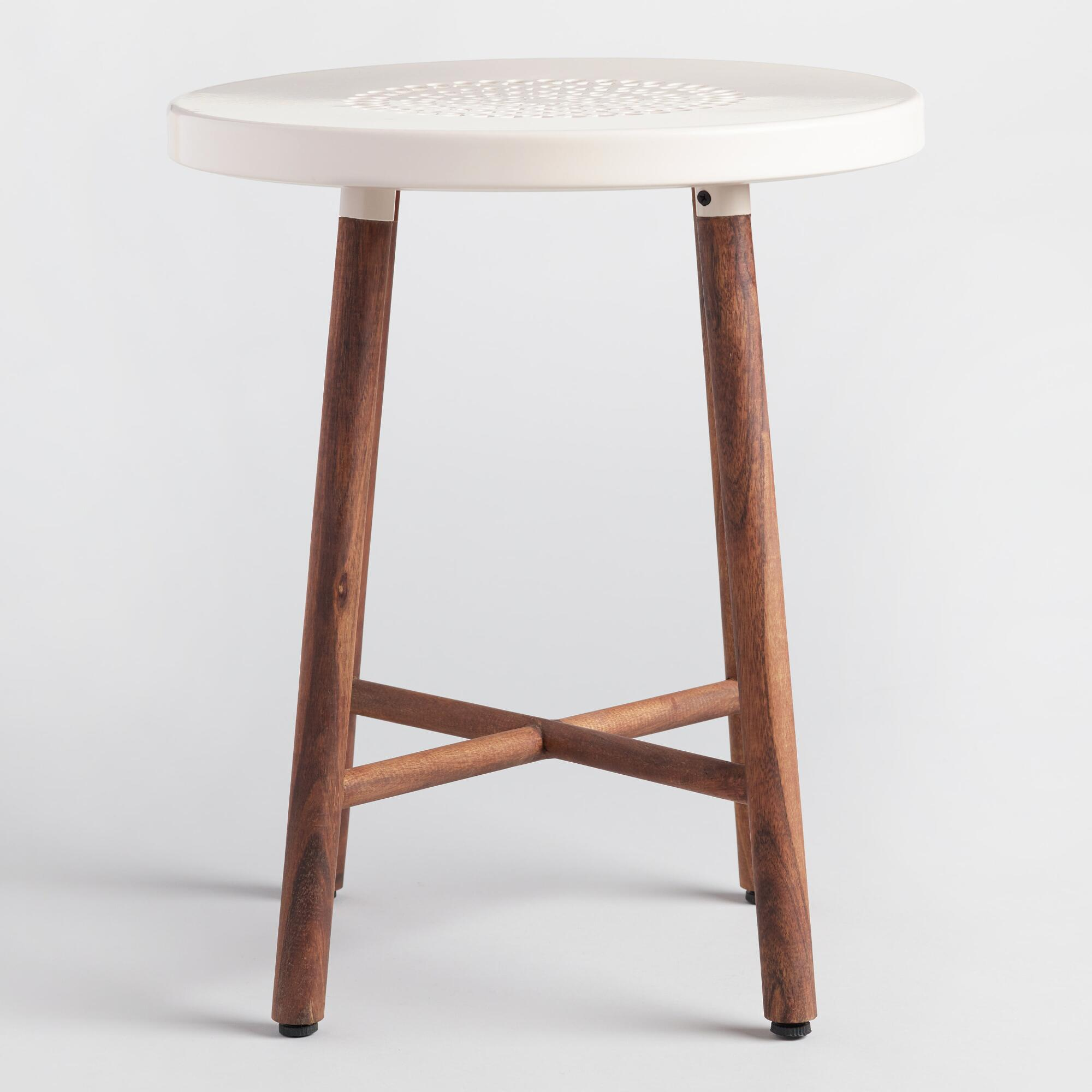 Cafe tables and chairs png - White Metal And Wood Tristan Stool