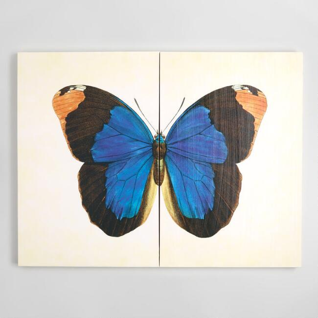 Blue Butterfly Diptych by Stacey Powell