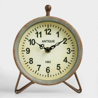 Galvanized Metal Hairpin Clock