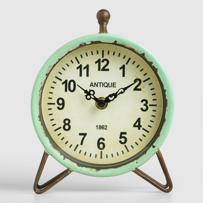 Aqua Metal Hairpin Clock