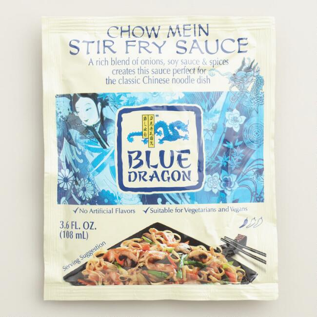 Blue Dragon Chow Mein Stir Fry Sauce Set of 6