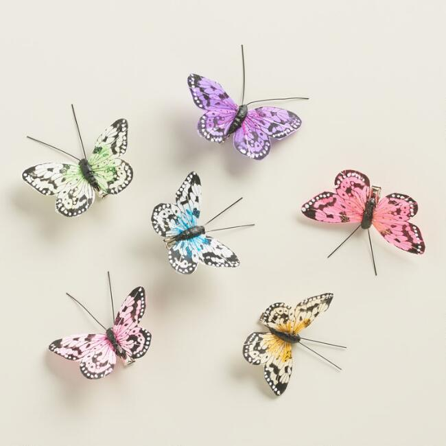 6 Piece Butterfly Clips Set of 2 Packs