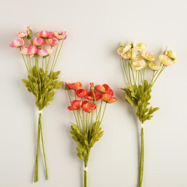 Poppy Bunches Set of 3