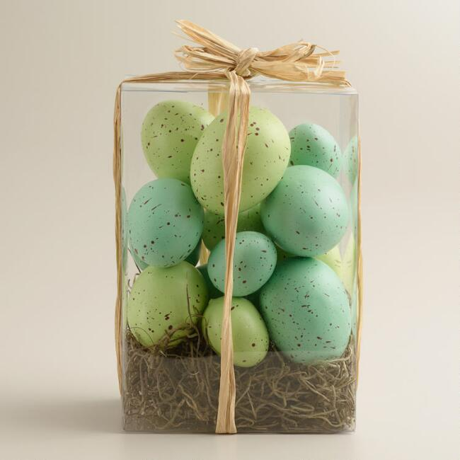 Boxed Blue and Green Eggs 13 Pack