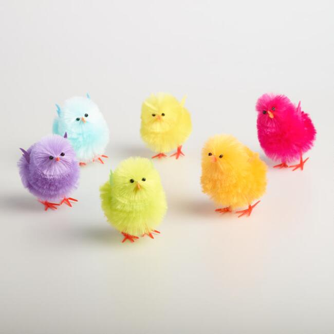 2 Piece Fabric Chicks Set of 3