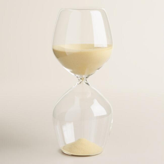 Glass Sand Timer with Light Sand