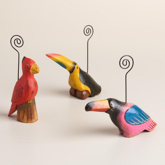 Tropical Bird Cardholders Set of 3