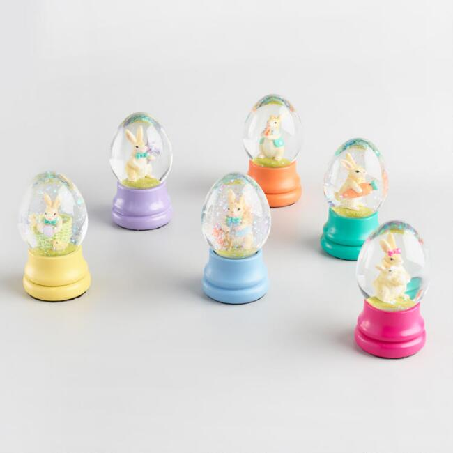 Mini Easter Water Globes Set of 6