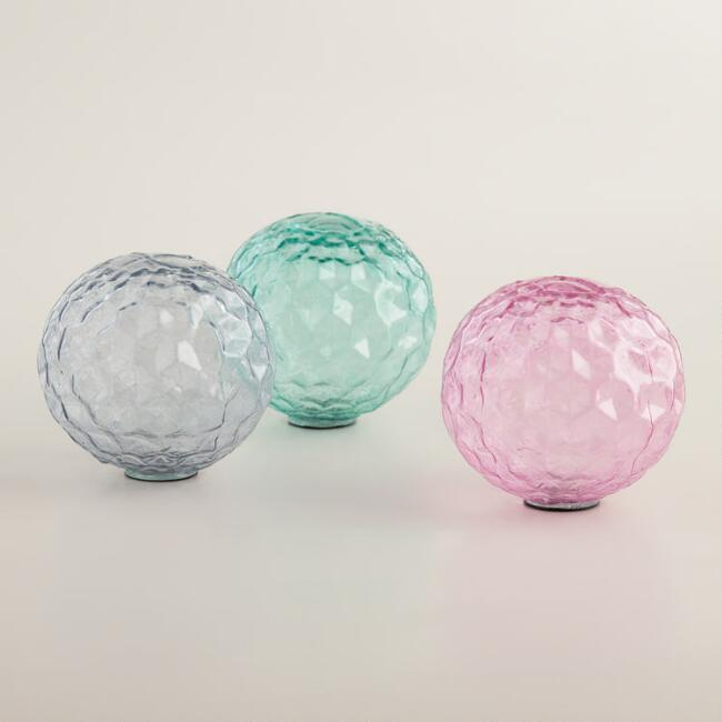 Extra Small Glass Sphere Decor Set of 3