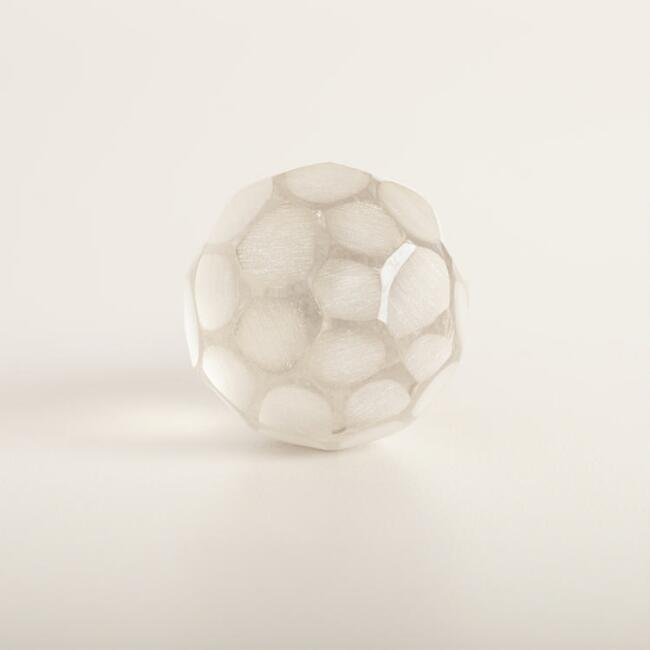 Clear Glass Faceted Knobs Set of 2