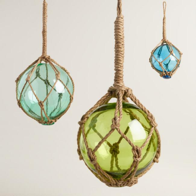 Glass Fishing Float Hanging Decor Collection