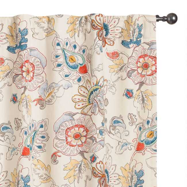 Multicolored Corinne Concealed Tab Top Curtains Set Of 2 World Market