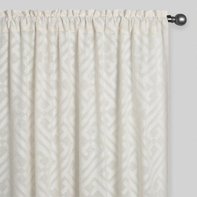 Sheer Cutwork Sleevetop Curtains Set of 2